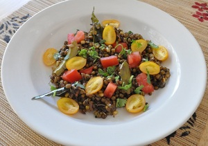 Sprouted Moong Bean Warm Usli Salad