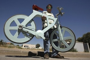 Yes, this bicycle is made out of recycled cardboard