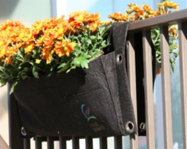 Rootpouch turns plastic bottles into durable fabric based breathable horticulture planters