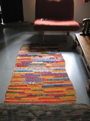 eco crocheted rug