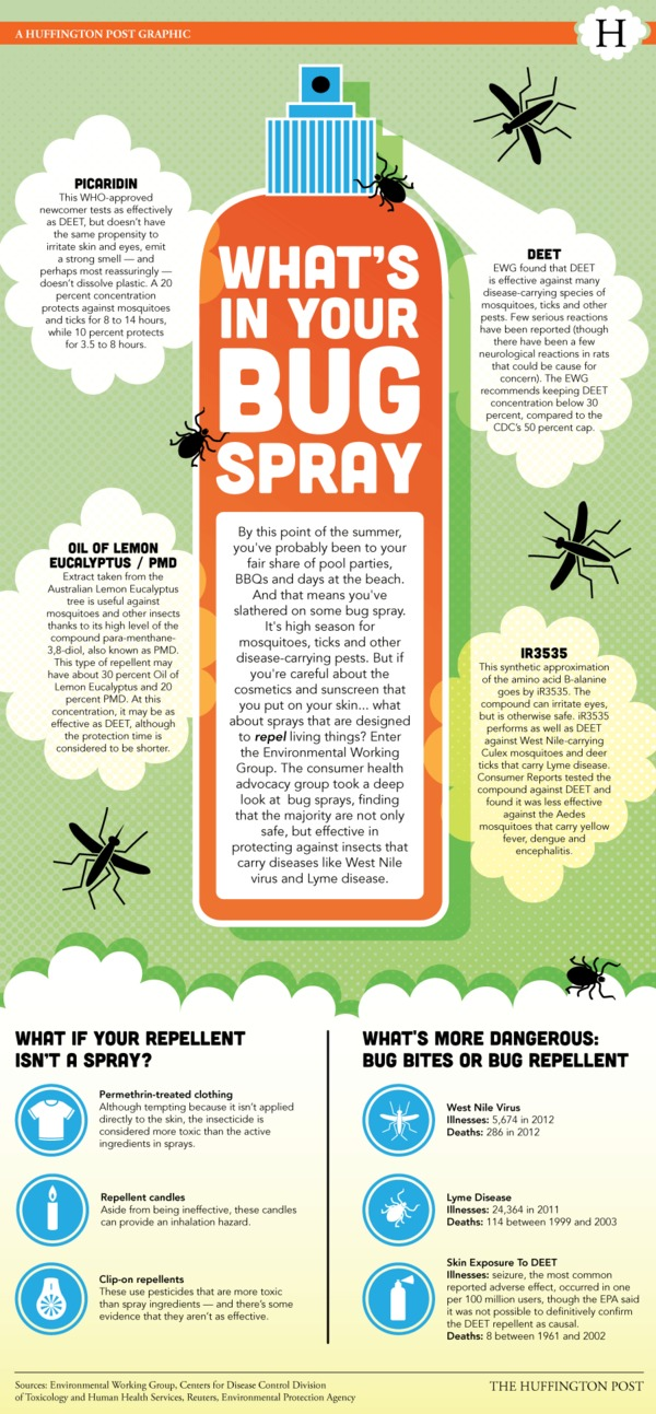 LOOK: What's Really Inside Your Bug Spray? via via @HealthyLiving