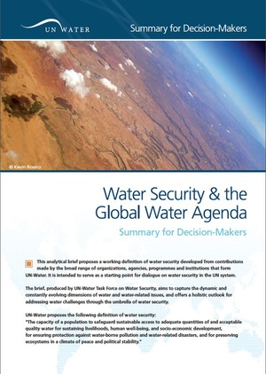 UN-Water Press Release Launch Water Security Brief