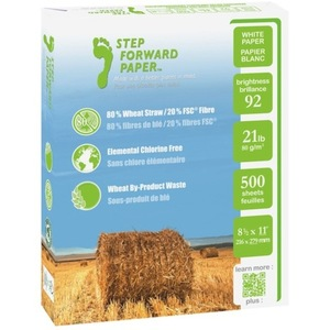 Step Forward paper - made with 80 per cent wheat straw