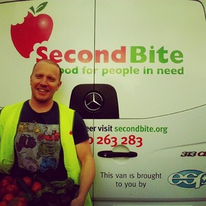 SecondBite driver Travis out on a delivery. #foodrescue #food #fresh #eco #sustainability