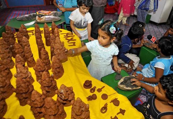 Eco-friendly Ganeshas