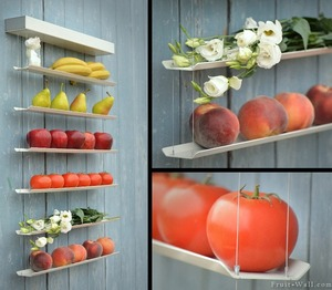 Using old blinds to store fruits and veggies #creative #recycle #reuse #cool