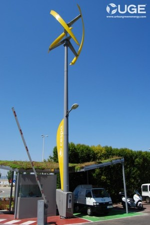 World's first fully integrated wind-powered electric vehicle charging station