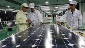 China offers solar power tax rebates via BBC News