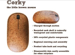 Battery free Corky mouse is powered by every click