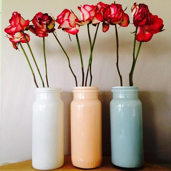 Keeping myself busy making my milk vases  #upcycle #recycle #reuse