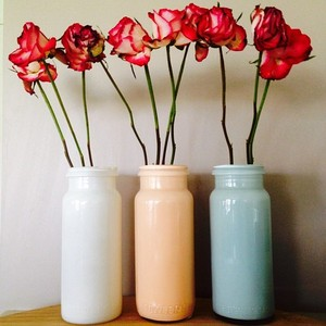 Keeping myself busy making my milk vases  #upcycle #recycle #reuse