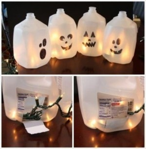 Decorate Green for Halloween - Bayshore Recycling #recycle #upcycle #DIY