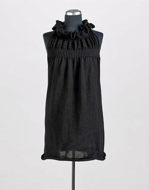 Ruffled Alpaca and Merino Tunic - elegantly warm from ellecante