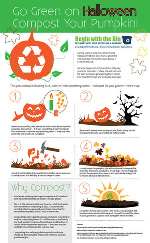 Begin with the Bin: Composting a Pumpkin #green #Halloween