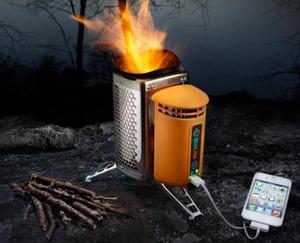 BioLite -clean safe cooking with wood. Generates electricity to charge cell phones, lights off-grid