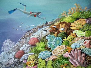 Reef Renewal by Janet Glatz  eco artist