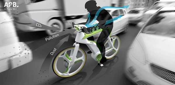 COOL! Air-purifying bicycle concept eats pollution, generates oxygen #bicycle #airpurifier