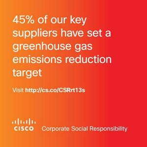 @Cisco works closely with our #SupplyChain to increase their #sustainable business practices.