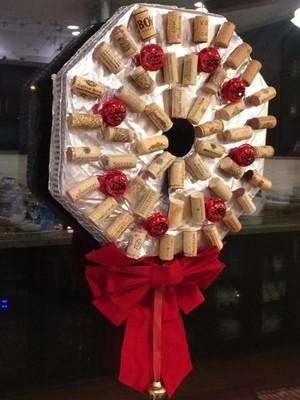 Cork and Bells Wreath