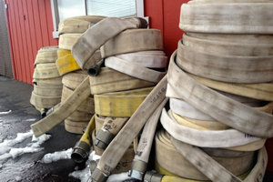 Company Turns Retired Fire Hoses into Mats, Furniture, Accessories