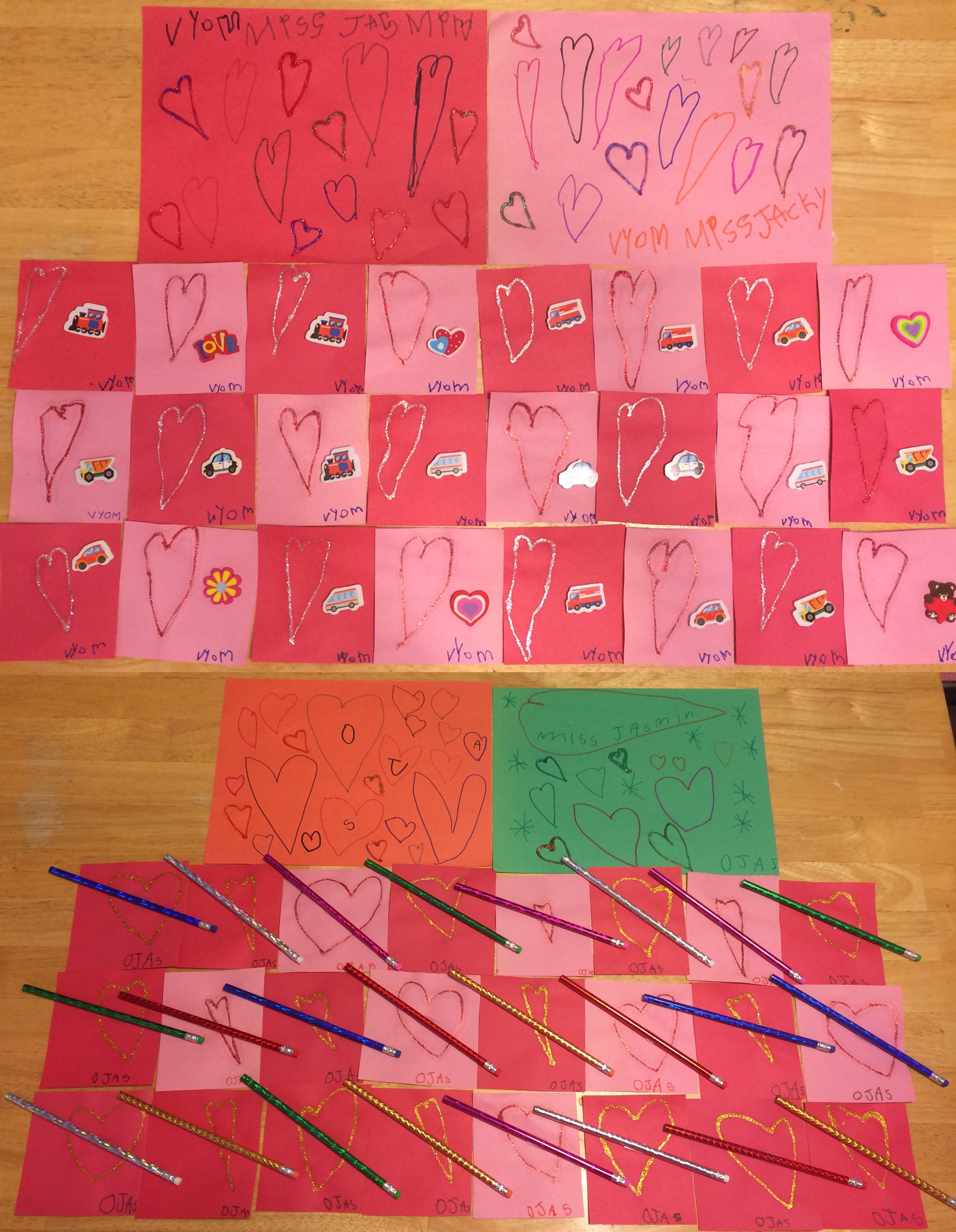 Valentines Day Cards & Treats for Preschool