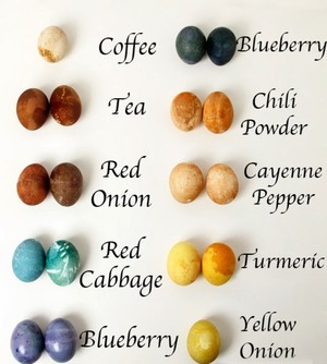 Natural coloring for #Eastereggs #eggs