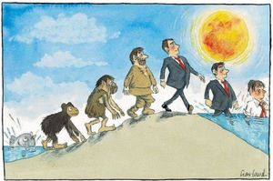 cartoon — evolution of man #climatechange