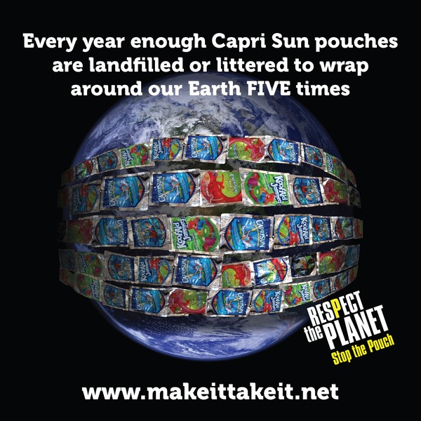 """Tell Capri Sun Manufacturer to """"Respect the Planet, Stop the Pouch"""" via @NRDC"""