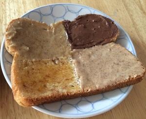 Checkered Spread on Bread