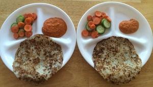 Dosa with Tomato Chutney and Salad
