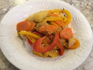 Introduce Different Flavors - Thai Red Curry with Lots of Veggies