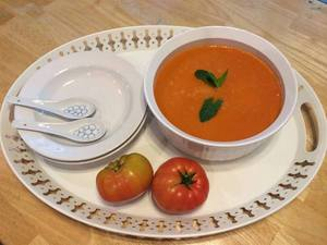 Tomato Soup made with Home Grown Tomatoes