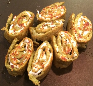 Pesarattu (Moong Bean Dosa) Rolls stuffed with Paneer