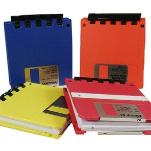 Green gift - little notebook made from recycled floppy disk and recycled paper