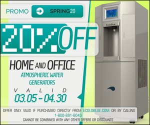 20% Off EcoloBlue Home/Office Atmospheric Water Generators - Pre-Orders
