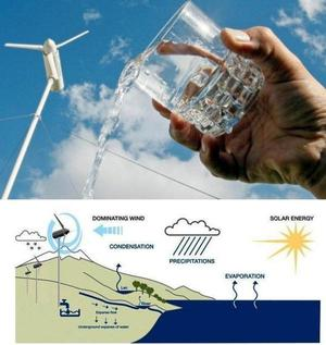 Eole Water - wind turbine able to create drinking water from condensed air -AMAZING!