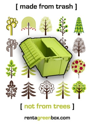 Recopacks: A green move - rentable & reusable recycled plastic moving boxes