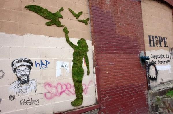 eco-friendly living graffiti