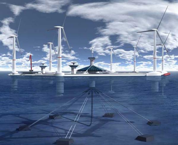 Floating wind farm - world's largest floating wind farm proposal in Malta