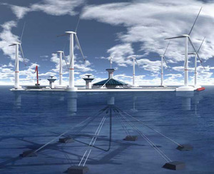 Floating wind farm - world's largest floating wind farm proposal in Malta