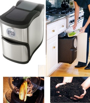 @NatureMill - easy composting indoors or outdoors, recycles food and paper into rich organic soil
