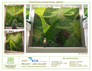 Green living walls of art - pleasing, air purifying and energy saving