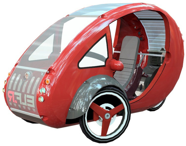 elf a bike and a car organic transit vehicles offer a cool option for eco friendly local. Black Bedroom Furniture Sets. Home Design Ideas