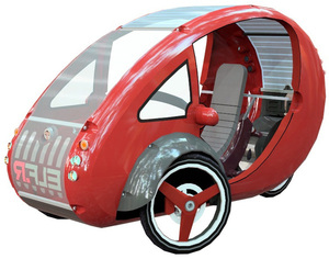 ELF - a bike and a car! Organic Transit Vehicles offer a cool option for eco-friendly local rides