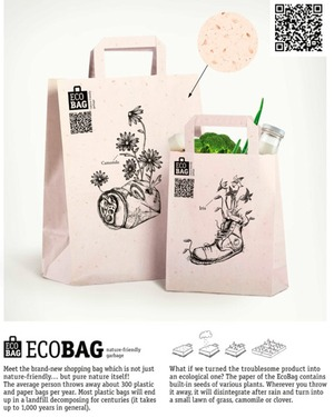 Eco Paper bags - nature friendly and can grow a garden!