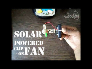 Clip-on Solar fan