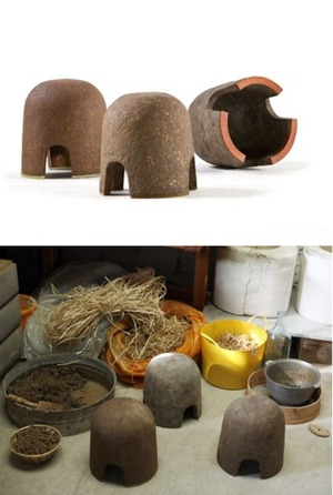 Terra stools - made from earth and natural fibers