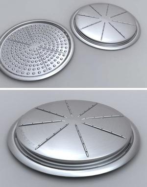 The Pi Pan - reusable pizza pan reducing cardboard use