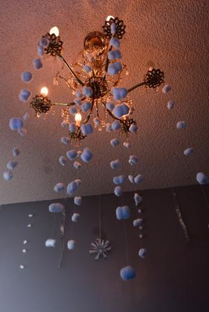 Cotton ball snow fall