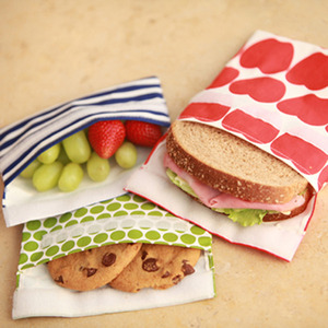 @lunchskinsbags - reusable snack bags can eliminate use of plastic bags for lunch packs